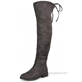 Journee Collection Women's Regular and Wide Calf Over-The-Knee Faux Suede Boot