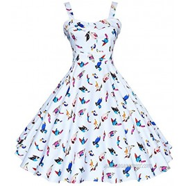 Maggie Tang 50s 60s Vintage Cocktail Retro Swing Rockabilly Full Circle Dress