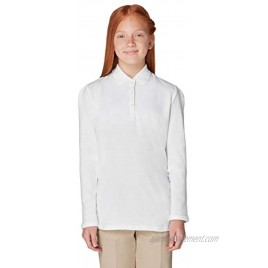 French Toast Women's Long Sleeve Stretch Pique Polo