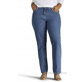 Lee Women's Plus-Size Relaxed Fit All Cotton Straight Leg Jean