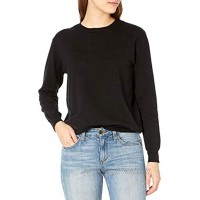 QUALFORT Women's Crewneck Sweater Pullover Soft Knitted Sweaters