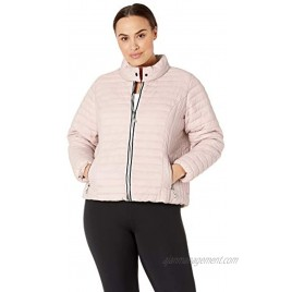 Marc New York Performance Women's Lightweight Puffer Jacket with Novelty Trimming