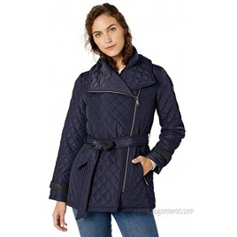 Vince Camuto womens Belted Quilted Jacket