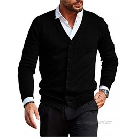 Karlywindow Mens Lightweight Cardigan Sweater Slim Fit Long Sleeve Cotton Knitted Cardigans