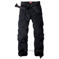 AKARMY Men's Casual Cargo Pants Military Army Camo Combat Work Pants with 8 Pockets